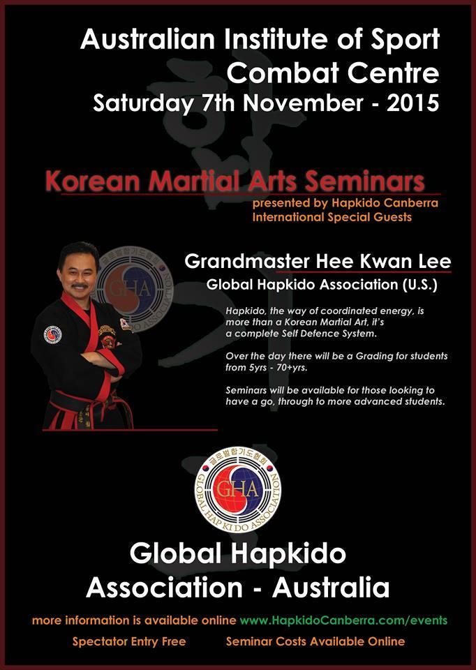 2015 Australia Korean MArtial Arts Seminars