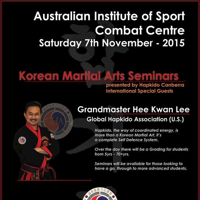 2015 Australia Korean Martial Arts Seminar Poster