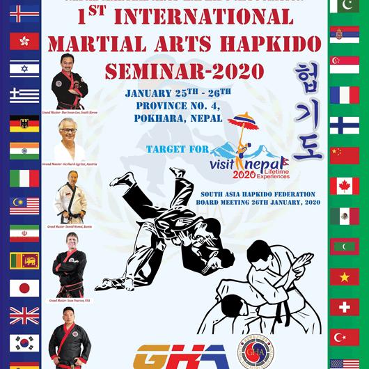 2020 Nepal Hapkido Seminar Poster