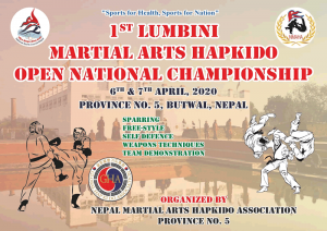 2020-nepal-martial-arts-hapkido-open-national-championship-poster